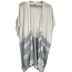 By Together Women's Cardigan S M Sweater Gray Open